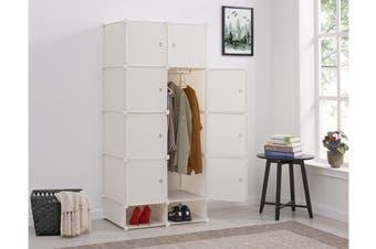 Ovela 8 Cube Modular Storage Organiser (Matte White)