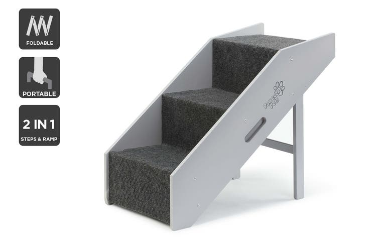 Pawever Pets 2-in-1 Foldable Pet Steps & Ramp