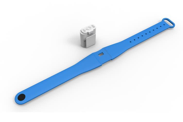 Pestill 3 Pack Electrosonic Mosquito Repeller Bracelets (Blue)