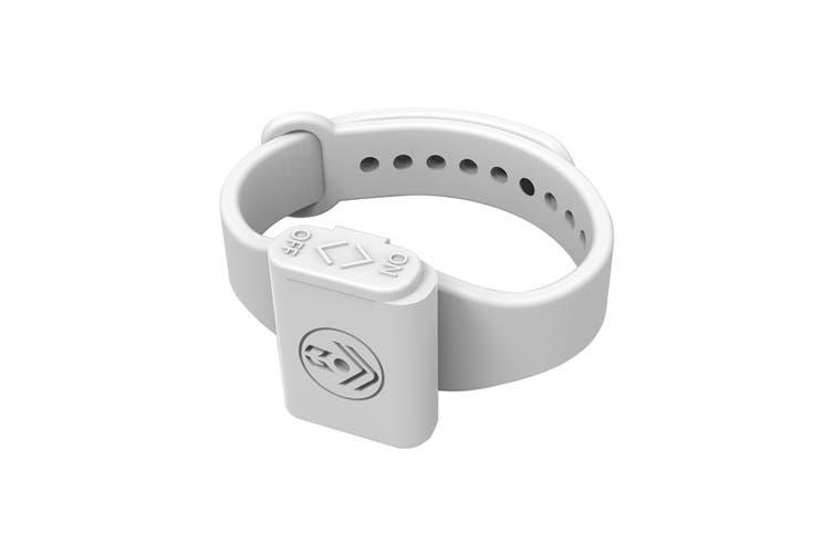 Pestill Electrosonic Mosquito Repeller Bracelet - White