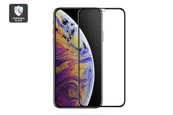 iPhone Xs 3D Gummed Full Cover Tempered Glass Screen Protector Black with Installer