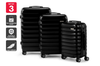 Orbis 3 Piece Capri Spinner Luggage Set (Black)