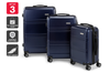 Orbis 3 Piece Kuredu Spinner Luggage Set (Midnight Blue)