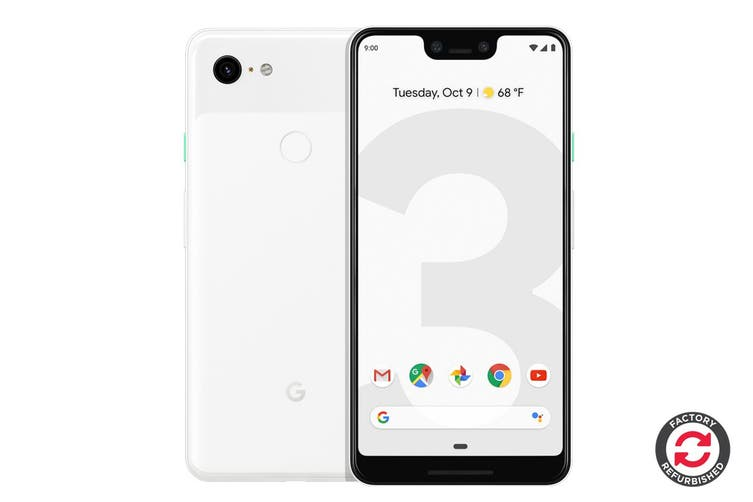 Google Pixel 3 XL Refurbished (64GB, Clearly White) - AB Grade