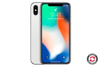 Apple iPhone X Refurbished (256GB, Silver) - A+ Grade