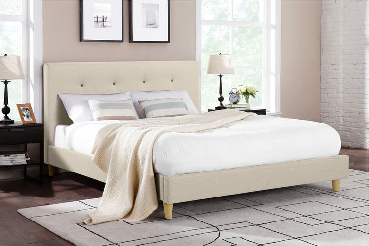 Ovela Bed Frame - Arezzo Collection (Beige Royal, Queen)