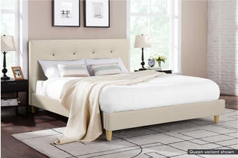 Ovela Bed Frame - Arezzo Collection (Beige Royal, Double)
