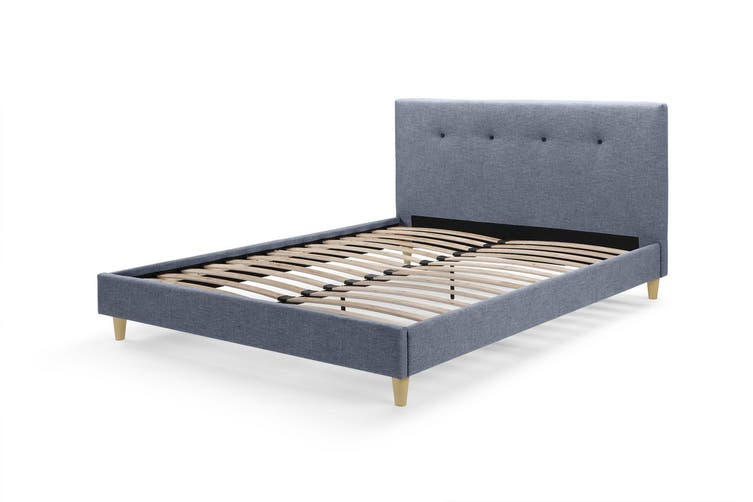 Ovela Bed Frame - Arezzo Collection (Pewter Grey, Queen)