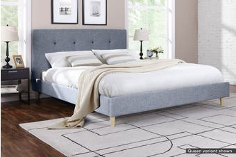 Ovela Bed Frame - Arezzo Collection (Pewter Grey, Double)