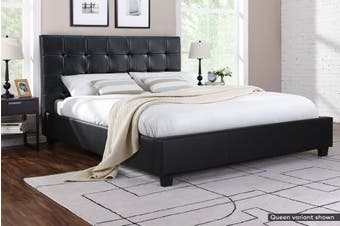 Ovela Bed Frame - Lucca Collection (Black, Super King)