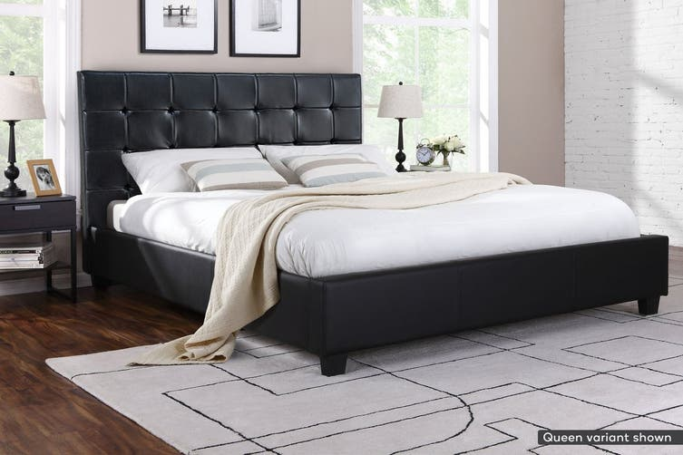 Ovela Bed Frame - Lucca Collection (Black, Double)
