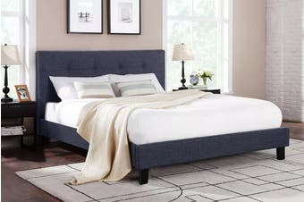 Ovela Bed Frame - Positano Collection (Charcoal Grey, Super King)