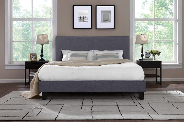 Shangri-La Bed Frame - Ravello Collection (Charcoal Grey, Queen)