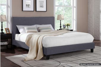 Shangri-La Bed Frame - Ravello Collection (Charcoal Grey, Super King)