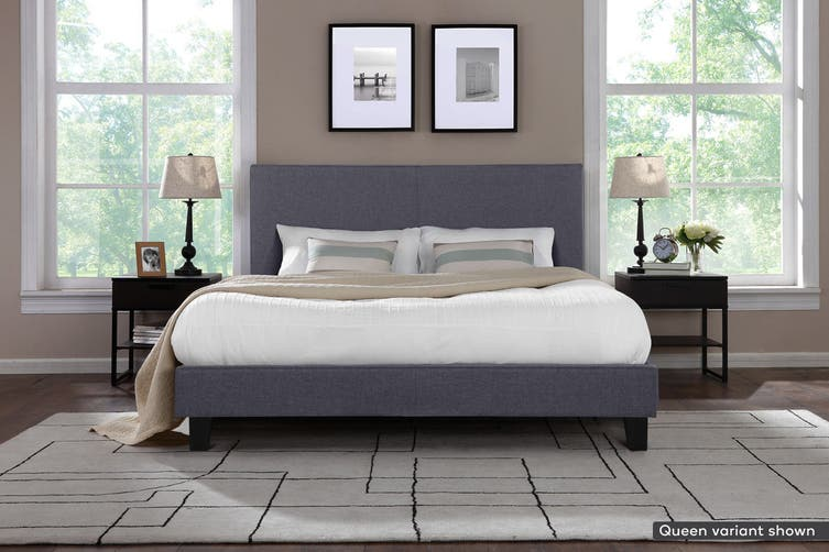 Shangri-La Bed Frame - Ravello Collection (Charcoal Grey, King)
