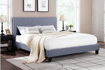 Shangri-La Bed Frame - Ravello Collection (Pewter Grey, Queen)