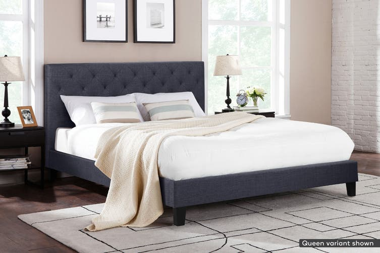 Shangri-La Bed Frame - Sorrento Collection (Charcoal Grey, Double)