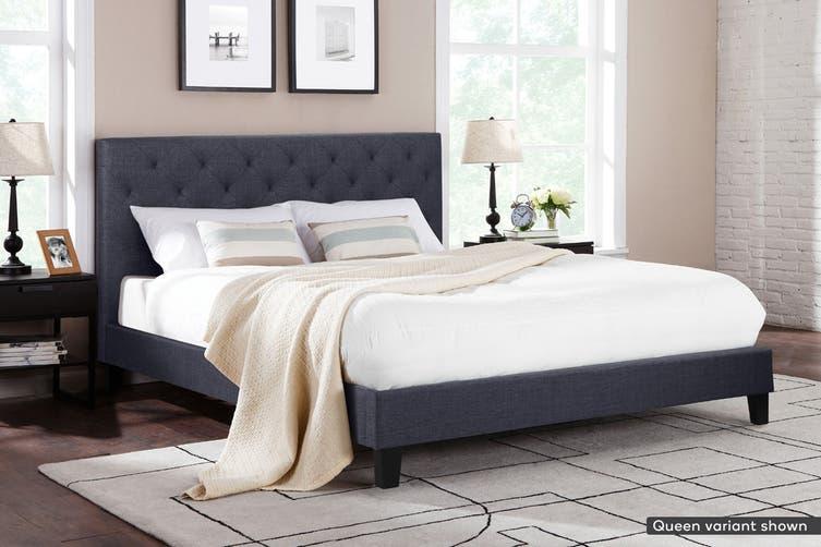 Shangri-La Bed Frame - Sorrento Collection (Charcoal Grey, King)