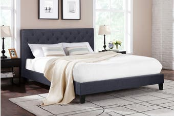 Shangri-La Bed Frame - Sorrento Collection (Charcoal Grey, Queen)