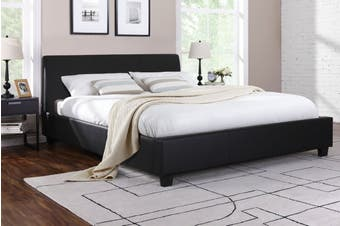 Shangri-La Bed Frame - Vernazza Collection (Black, Queen)