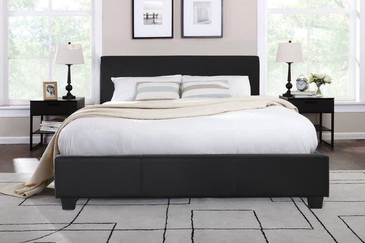 Shangri-La Bed Frame - Vernazza Collection (Black, Queen)