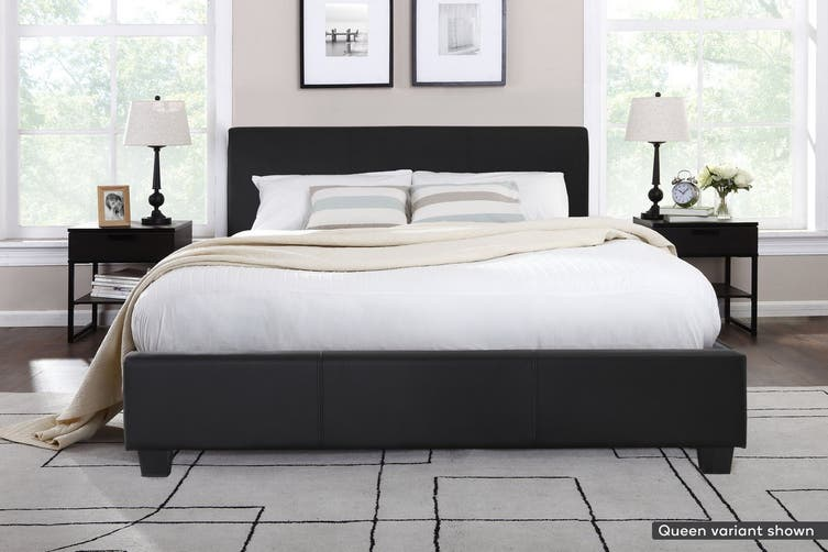 Shangri-La Bed Frame - Vernazza Collection (Black, King)
