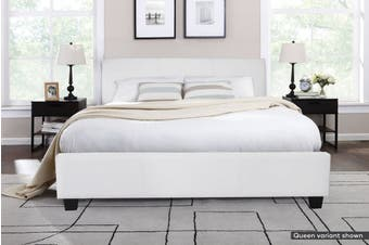 Shangri-La Bed Frame - Vernazza Collection (White, King)