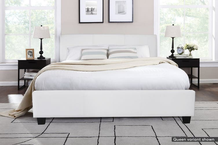 Shangri-La Bed Frame - Vernazza Collection (White, Super King)