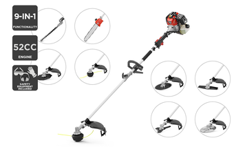 Certa 52cc 9-in-1 Line Trimmer Hedge Trimmer Chainsaw and Cutter