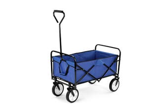 Certa Folding Garden Wagon Trolley Cart (Blue)