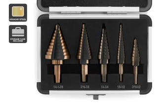 Certa 5 Piece Step Drill Bit Set
