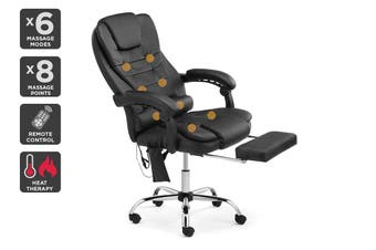 Ergolux Massage Office Chair with Footrest