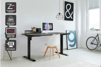 Ergolux Electric Standing Desk Single Motor (Black)