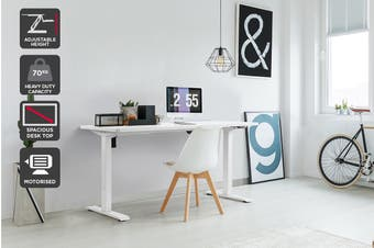 Ergolux Electric Standing Desk Single Motor (White)