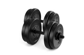 Fortis 20kg Adjustable Weights Dumbbell Set
