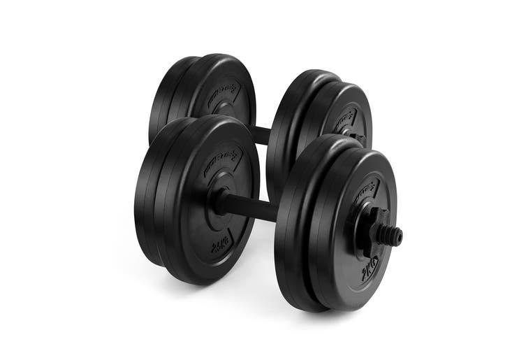 Fortis 20kg Adjustable Weights Dumbbell Set