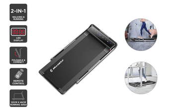 Fortis T2 Ultra Slim Foldable 2-in-1 Walking & Jogging Smart Treadmill