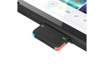 GENKI Bluetooth Audio Adapter for Nintendo Switch (Neon)