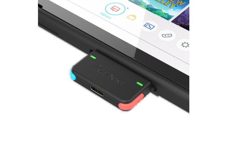 GENKI Bluetooth Audio Adapter for Nintendo Switch (Neon)