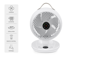 Hyundai DC Motor Rechargeable Circulation Fan