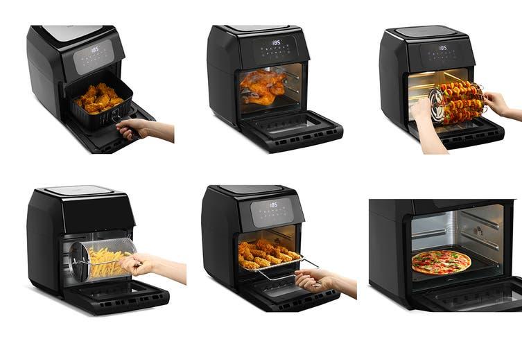 Kogan 12L 1800W Digital Air Fryer Oven (Black)