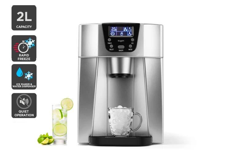 Kogan 2-in-1 Ice Cube Maker & Water Dispenser (Stainless Steel)