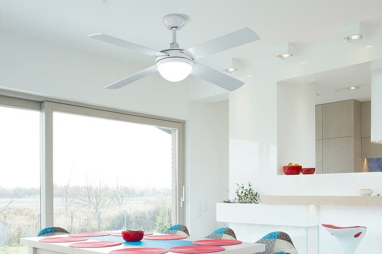Kogan 52″ 1300mm DC Motor Ceiling Fan with Light & Remote (White)