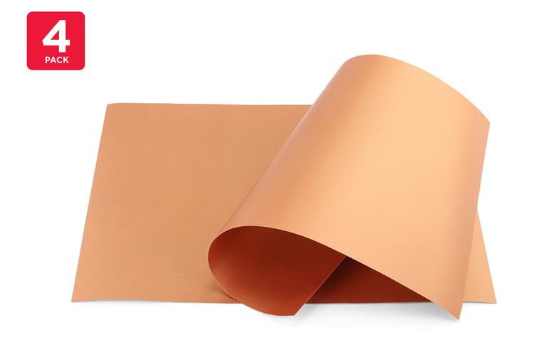 4 Pack Non-Stick BBQ Grill Mat (Copper)