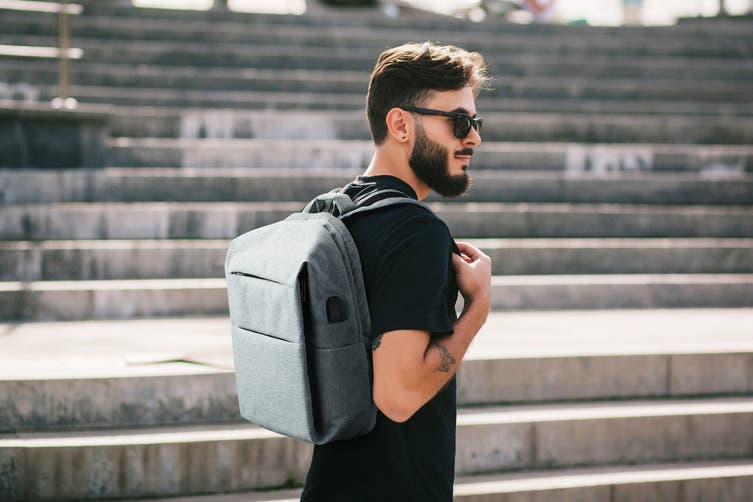 Ultimate Anti-Theft Defender Backpack with USB Port (Grey)