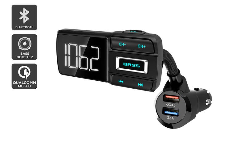 Kogan Car FM Transmitter with Bass Booster