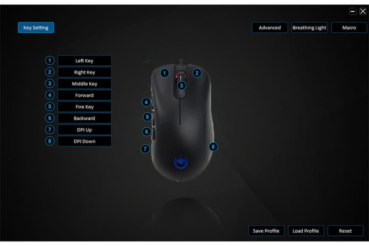 Kogan GM9 RGB 6400dpi Gaming Mouse
