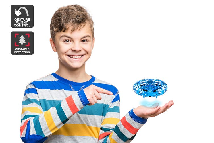 Galactic Gesture Controlled Mini Drone (Blue)