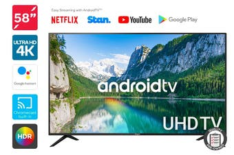 "Kogan 58"" Smart HDR 4K LED TV Android TV™ (Series 9, RU9210) Preowned"