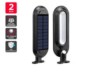 Solar Wall Mounted Motion Sensor Lights (Black, Zara)